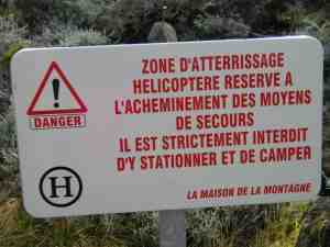 Zone hélicoptère