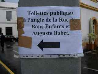 Direction toilettes
