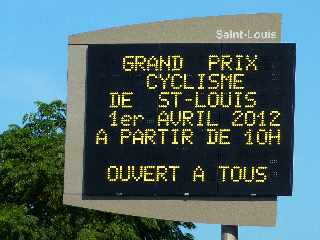 St-Louis - Course cycliste 1er avril 2012
