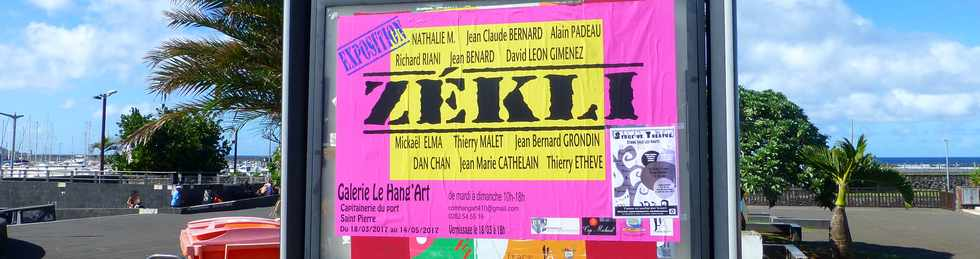 5 avril 2017 - St-Pierre - Galerie Hang'Art - Expo Zékli